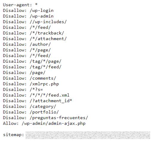 ejemplo archivo robots txt