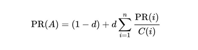 formula pagerank