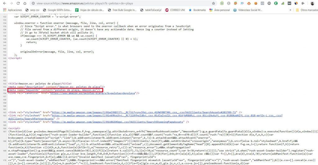 meta keyword ejemplo